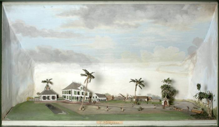 Tropenmuseum_Royal_Tropical_Institute_Objectnumber_3290-281_Diorama_van_de_suikerplantage_Merveil